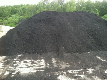 ground shingle stockpile
